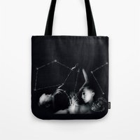 constellation Tote Bags featuring Constellation  by gamma-radio