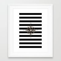 compass Framed Art Prints featuring Compass by Andréa Bottalla
