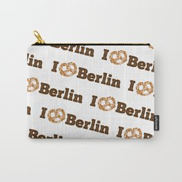I love Berlin - Brown Pretzel Carry-All Pouch
