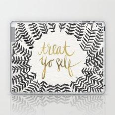 Treat Yo Self – Black & Gold Laptop & iPad Skin