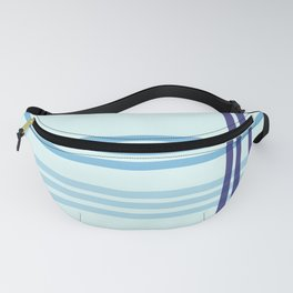 Blue line pattern beautiful, abstract and simple Fanny Pack