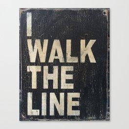 I Walk The Line Canvas Print