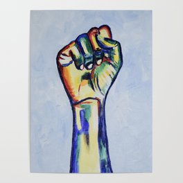 LGBTQ Resist Fist, LGBT artwork, resist artwork Poster