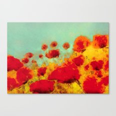 FLOWERS - Poppy time Canvas Print