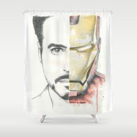 ironman Shower Curtains featuring Ironman by Dave Seedhouse.com