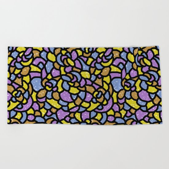 Mosaic Tiles Random Shaped Beach Towel