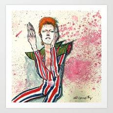 Schiele's Bowie Art Print