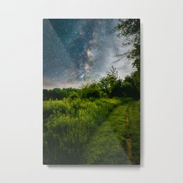 Painted Grass Metal Print