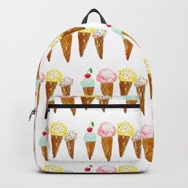Ice Creams, Watercolor Ice Creams Backpack