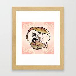 Keep warm together Framed Art Print