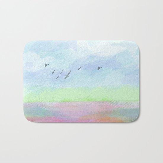 Pastel dreamscape Bath Mat