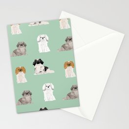 Pekingese dog breed gifts unique dogs pet friendly pet portraits Stationery Cards