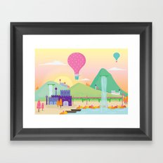 somewhere far away Framed Art Print