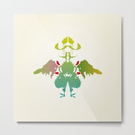 Rorschach Chicken Metal Print