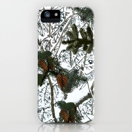 Hunting: Snow Camouflage Pattern iPhone Case