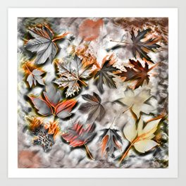 Burnished leaves Art Print