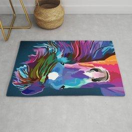 pop art horse Rug
