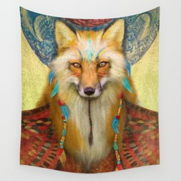 Wise Fox Wall Tapestry