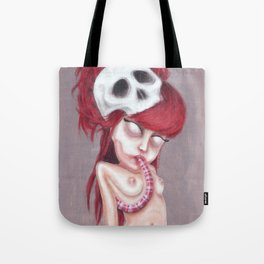 Blurry Red Vision Tote Bag