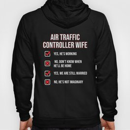 Air Traffic Controller Wife ATC Flight Control design Hoody