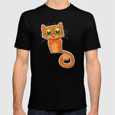 Fabric Cat Mens Fitted Tee MEDIUM Black