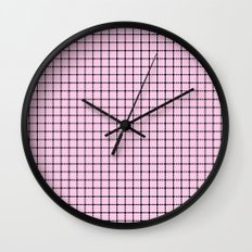 Dotted Grid Blush Wall Clock