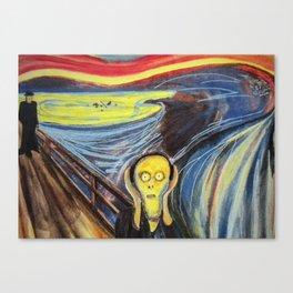 the scream silenced Canvas Print