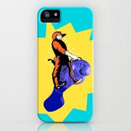 Cowboy Manatee iPhone Case