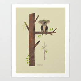 Sitting Up A Tree Is Where Koala's Meant To Be Art Print