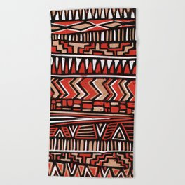 Aztec lino print Beach Towel