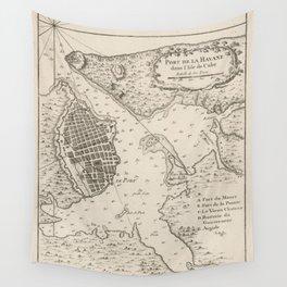 Vintage Map of Havana Cuba (1764) Wall Tapestry