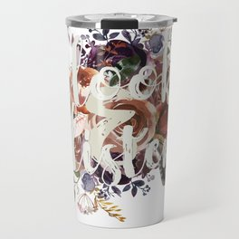 Look & Listen Floral Travel Mug