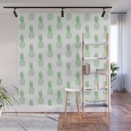 Mint Pineapple Wall Mural
