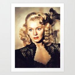 Carole Landis, Movie Legend Art Print