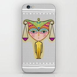 libra zodiac sign iPhone Skin