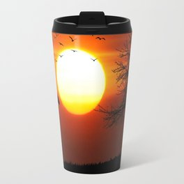 Giraffe sundown Travel Mug