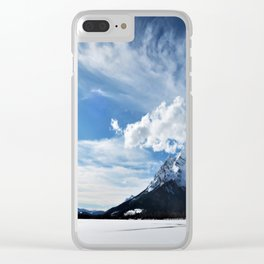sunny day in the mountains Clear iPhone Case