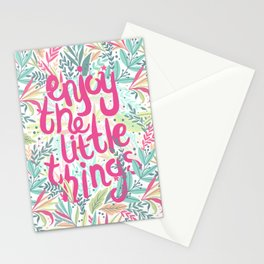 Enjoy The Little Things (Quotation Series) Stationery Cards
