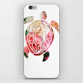 Floral turtle iPhone Skin