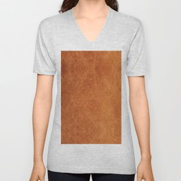 N91 - HQ Original Moroccan Camel Leather Texture Photography Unisex V-Neck