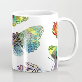 Butterfly Obsession in Blues Coffee Mug