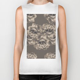Sepia Peony Flower Bouquet #1 #floral #decor #art #society6 Biker Tank