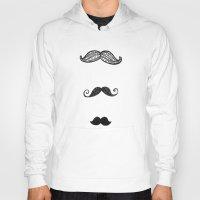 moustache Hoodies featuring moustache by Monique Turchan