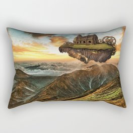 Futuristic steampunk background Rectangular Pillow