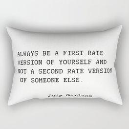 Judy Garland quote Rectangular Pillow