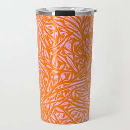 Summer Orange Saffron - Abstract Botanical Nature Travel Mug