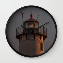 Eastern point Lighthouse Tower at sunset Wall Clock