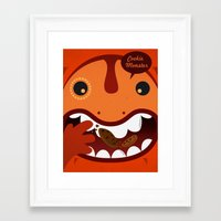cookie monster Framed Art Prints featuring Cookie Monster by Ilias Sounas