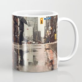 RAIN - WET - MAN - LIGHT - STREET - PHOTOGRAPHY Coffee Mug
