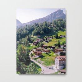 Tshciertschen Switzerland Print, Switzerland Wall Art, Europe Wall Art, Travel Decor, Switzerland Photography, Travel Print Metal Print